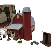 Plasticville HO Gauge Barn #2602-100. Complete and In Original Box. Snap Fit; No Glue.  Nice Vintage Condition