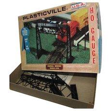 Plasticville HO Gauge Signal Bridge 2620-100.  Vintage Bachmann Brothers. In Original Box