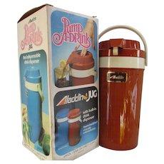 VINTAGE Aladdin's Pump A Drink Jug.  1/2 Gallon Insulated.  In Original Box.