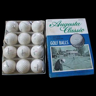 Vintage Augusta Classic Golf Balls in Original Box.  12 Golf Balls.