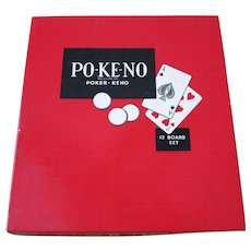 Vintage Po-Ke-No Pokeno Poker - Keno 12 Board Set.  U.S. Playing Card Co., Cincinnati, OH  USA