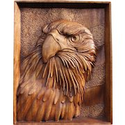 """Hand made wood carving picture  """"AMERICAN COAT OF ARMS"""""""