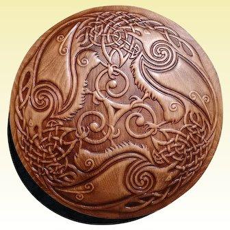 Odin Raven Pagan Symbol Viking Art Plaques Home Decor Norse Wood Picture Gods Custom Carving Heathen Asatru Celtic Norse Rune Wall Hanging