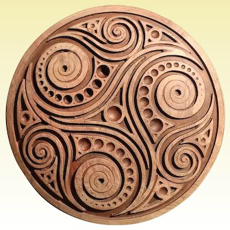 """Hand made wood carved picture """"Favorite   Trisquel """"."""