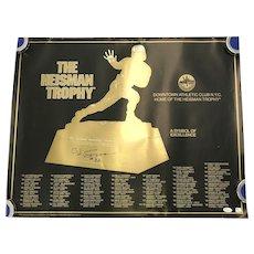 O. J. Simpson Signed Heisman Trophy Winners Signed Poster - JSA