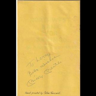 Mickey Mantle Signed Awards Program 1980 Guest Speaker - FULL JSA LOA