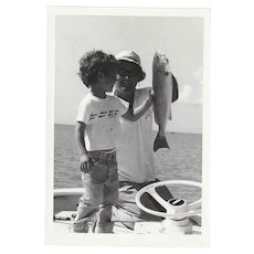 Ted Williams Original Snapshot Photographs (4) Playing Favorite Sport - FISHING