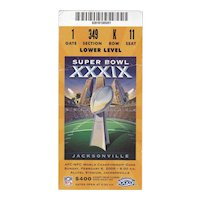 Super Bowl XXXIX Ticket Stub