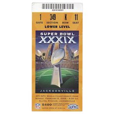 Super Bowl XXXIX Ticket Stub