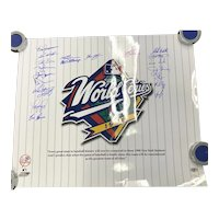 1998 New York Yankees Signed World Series Poster GREATEST TEAM ALL TIME 20 Signatures
