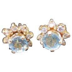 Star Diamond & Aquamarine Interchangeable Stud Earrings