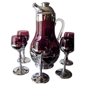 Farber Bros./Cambridge Cocktail Shaker with Six Stems