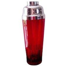 Paden City Ruby Glass Shaker