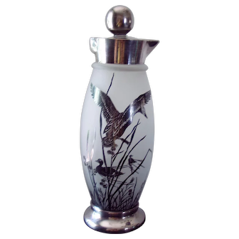 Cambridge Glass Shaker with Silver Overlay