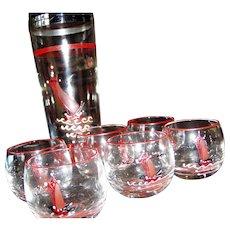 Nautical glass cocktail shaker