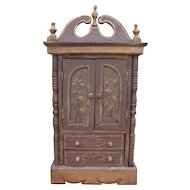 Nice antique doll Paint decorated Gustavien dressing cabinet.