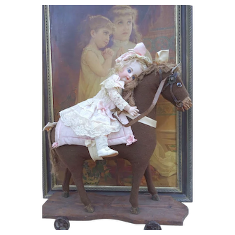 Beautiful and large antique horse for your favorite doll.
