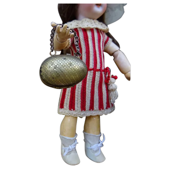 Nice antique copper egg bag for small doll or F.Fashion