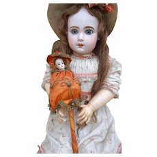 French antique Marotte doll by François Gaultier in original condition.