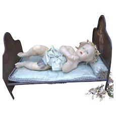 As found wonderful antique wax baby.