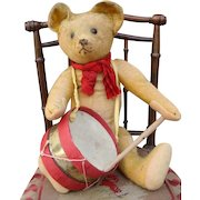 Adorable antique Steiff musician bear.