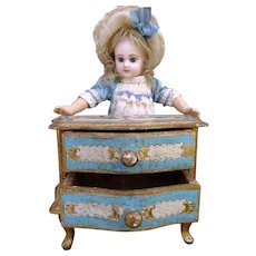 Very nice antique Florentine commode for small doll or F.Fashion.