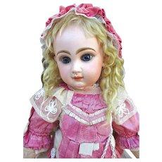 Very nice closed mouth Jumeau Bebe, beautiful blue eyes.
