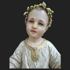 Rare and beautiful XIX terra-cotta Jesus baby