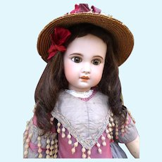 Very large and pretty open mouth Jumeau Bebe size 15