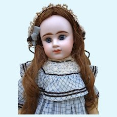 Very pretty early E. DENAMUR Bebe with antique dress