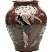French Art Pottery Vase, Émile Gallé  C.1900