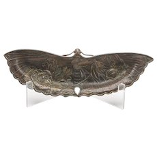 Antique Japanese Meiji Bronzed Moth Shaped Dish 19th C.
