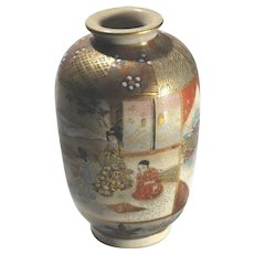Meiji Japan Antique Satsuma Signed Vase
