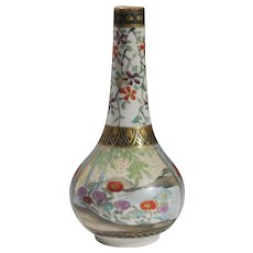 Meiji Period Antique Satsuma Spill Vase
