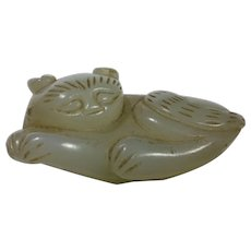 Late Ming Dynasty Carved Sleeping Cat