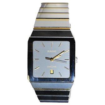 Rado DiaStar 152.0366.3 Tungsten Swiss Quartz Date Dress Men's Watch