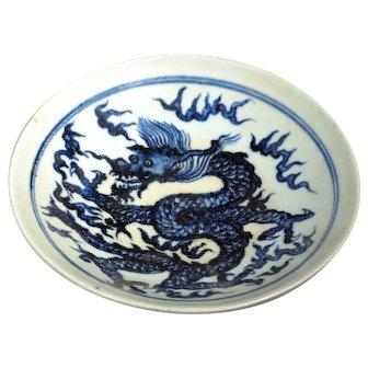 18C Annamese Dragon Plate