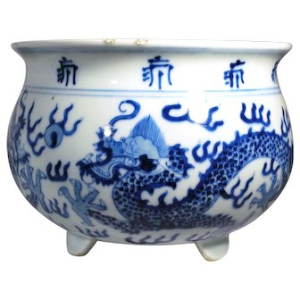 Chinese 19th Century Tripod Censor