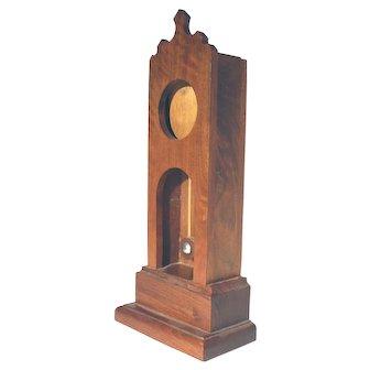 Walnut Grandfather Clock Pocket Watch Holder