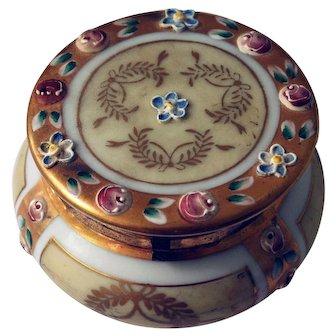 Victorian Golden Porcelain Trinket Box