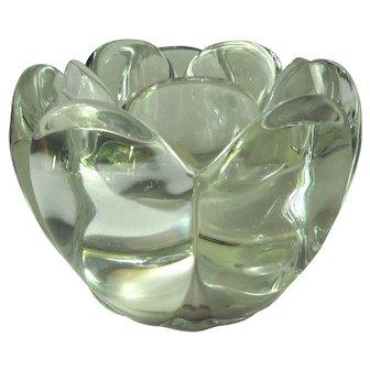 Royal Copenhagen Lotus Blossom Crystal Votive Candle Holder