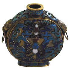 Late 19th, Early 20th Century Cloisonne Snuff Bottle