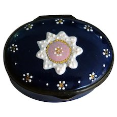 18th Century Antique Battersea, Billston Enamel Patch Box