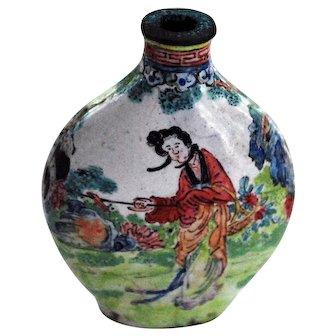 19 Century Chinese Enamel Snuff Bottle