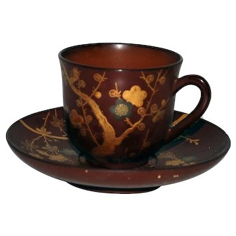 19th Century Lacquer Cup and Saucer