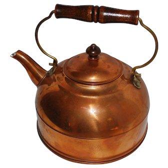 Vintage Traditional Revere Copper Tea Kettle