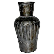 Late 19th Century Egyptian Tinned Copper Vase