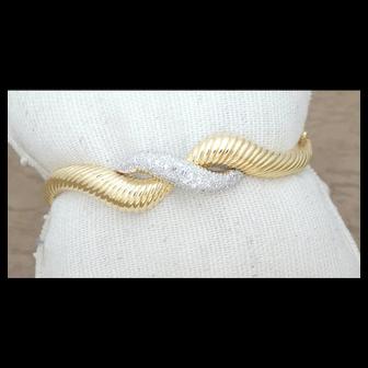 18k yellow gold, Diamond Bangle Bracelet circa 1950's