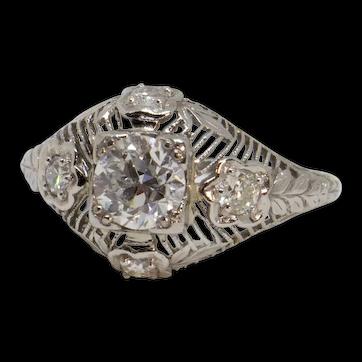 1920's Platinum Ring