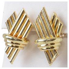 18K Yellow Gold Vintage Earrings